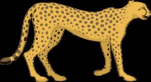 Walking Cheetah Clip Art