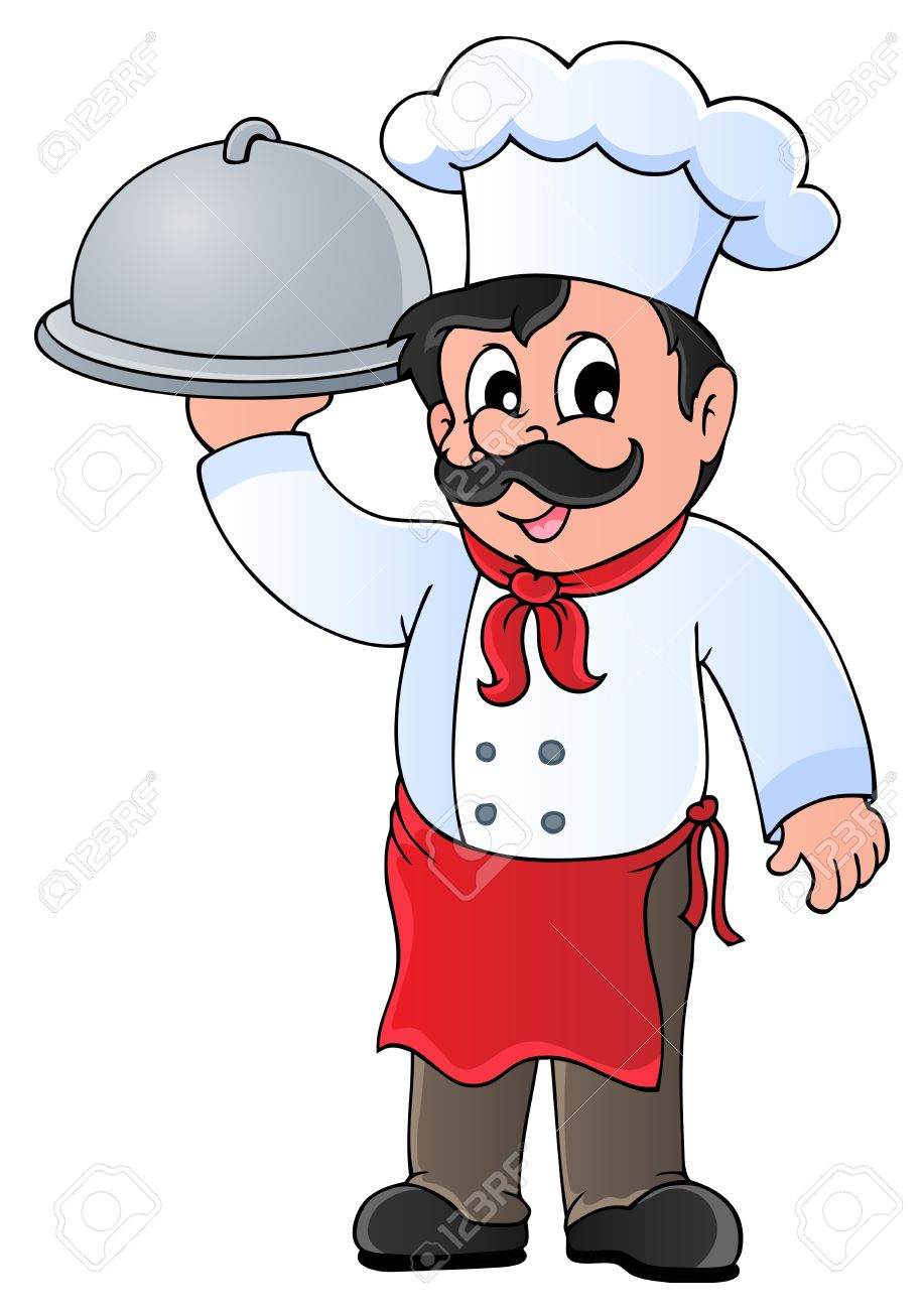 set of chef with pizza design