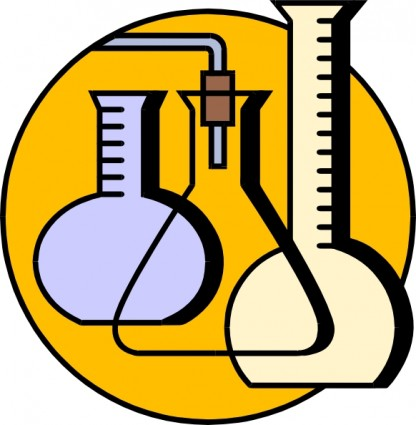 Chemical Lab Flasks Clip Art Free Vector In Open Office Drawing Svg
