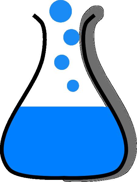 chemistry beaker clipart black and white