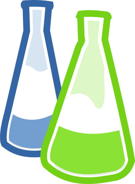 Chemistry Lab Flasks Clip Art At Clker Com Vector Clip Art Online
