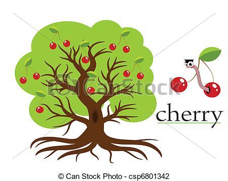 Cherry tree Clip Artby ...