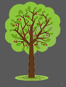 ... Cherry Tree V | Free Images - vector clip art online .