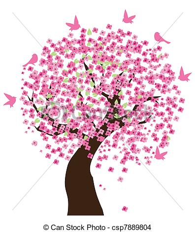 ... Cherry tree - Vector illustration of a cherry tree with.