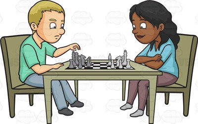 . ClipartLook.com A man and woman playing chess