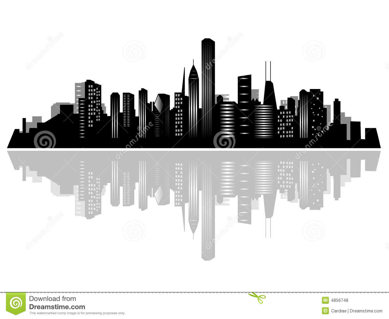 Chicago city skyline Royalty Free Stock Photos