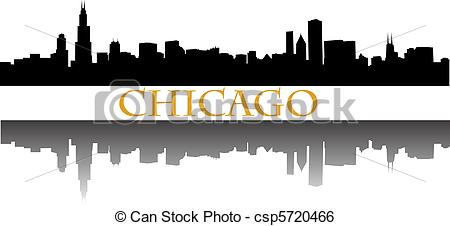 chicago skyline Stock Illustrationby ...