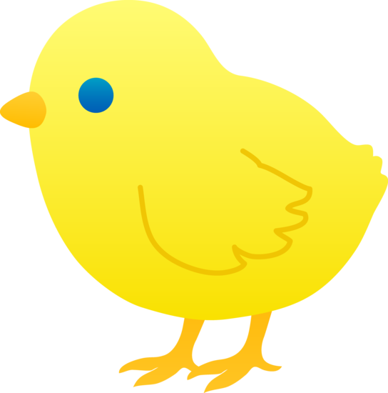 Yellow Chick Clipart #1