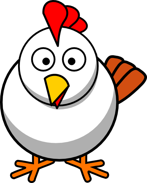 Cartoon Chicken Clipart #1