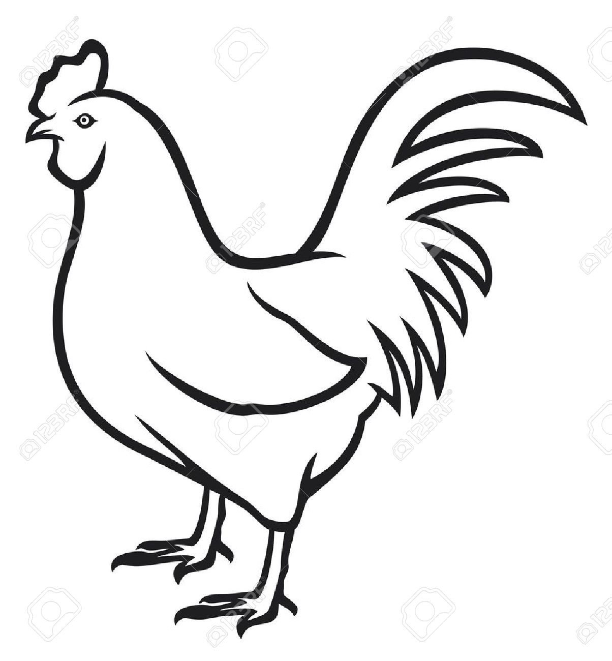 Chicken clipart outline - ClipartFest