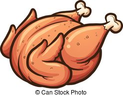 . hdclipartall.com Roasted chicken - Cartoon roasted chicken. Vector clip art.