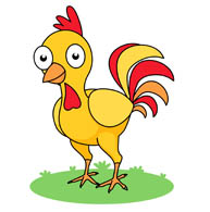 yellow rooster clipart. Size: 73 Kb