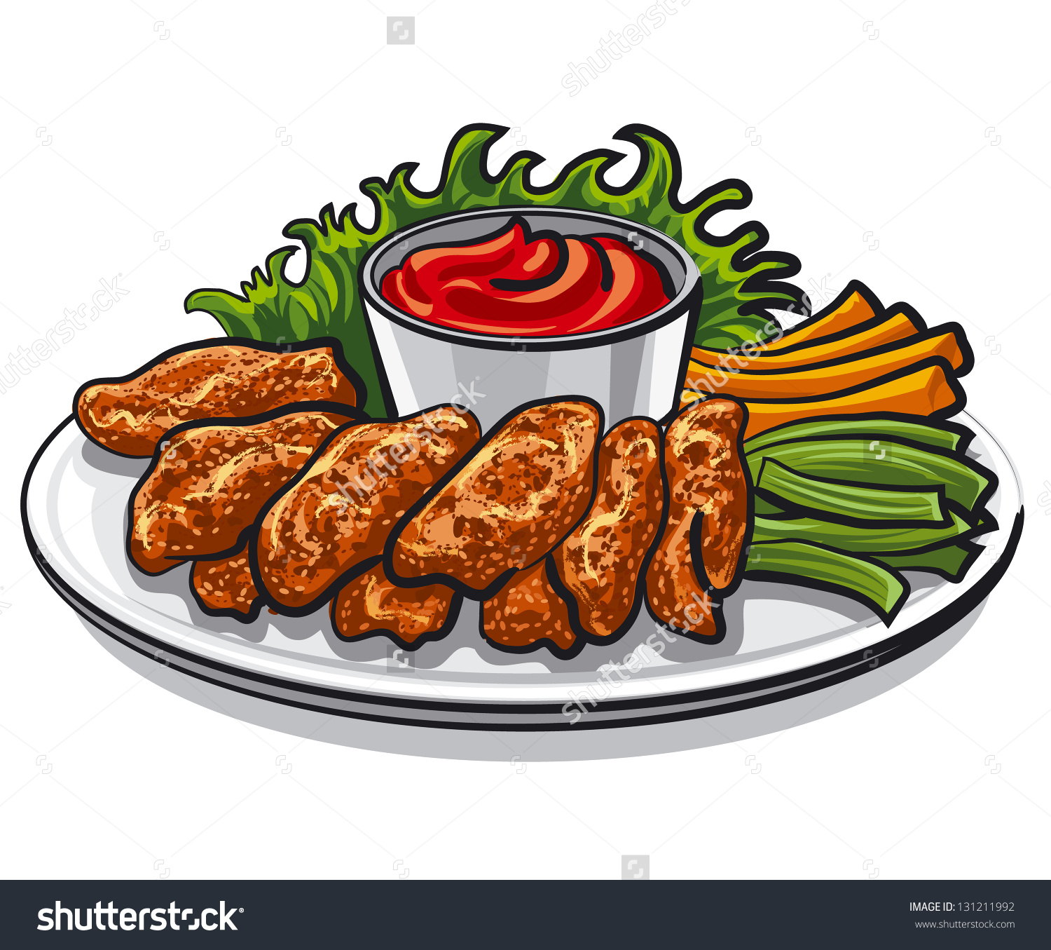 Chicken Wing Clipart. Save to a lightbox