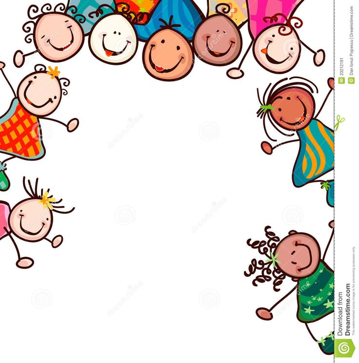 Happy Kid Clip Art Happy kids with smiling faces.