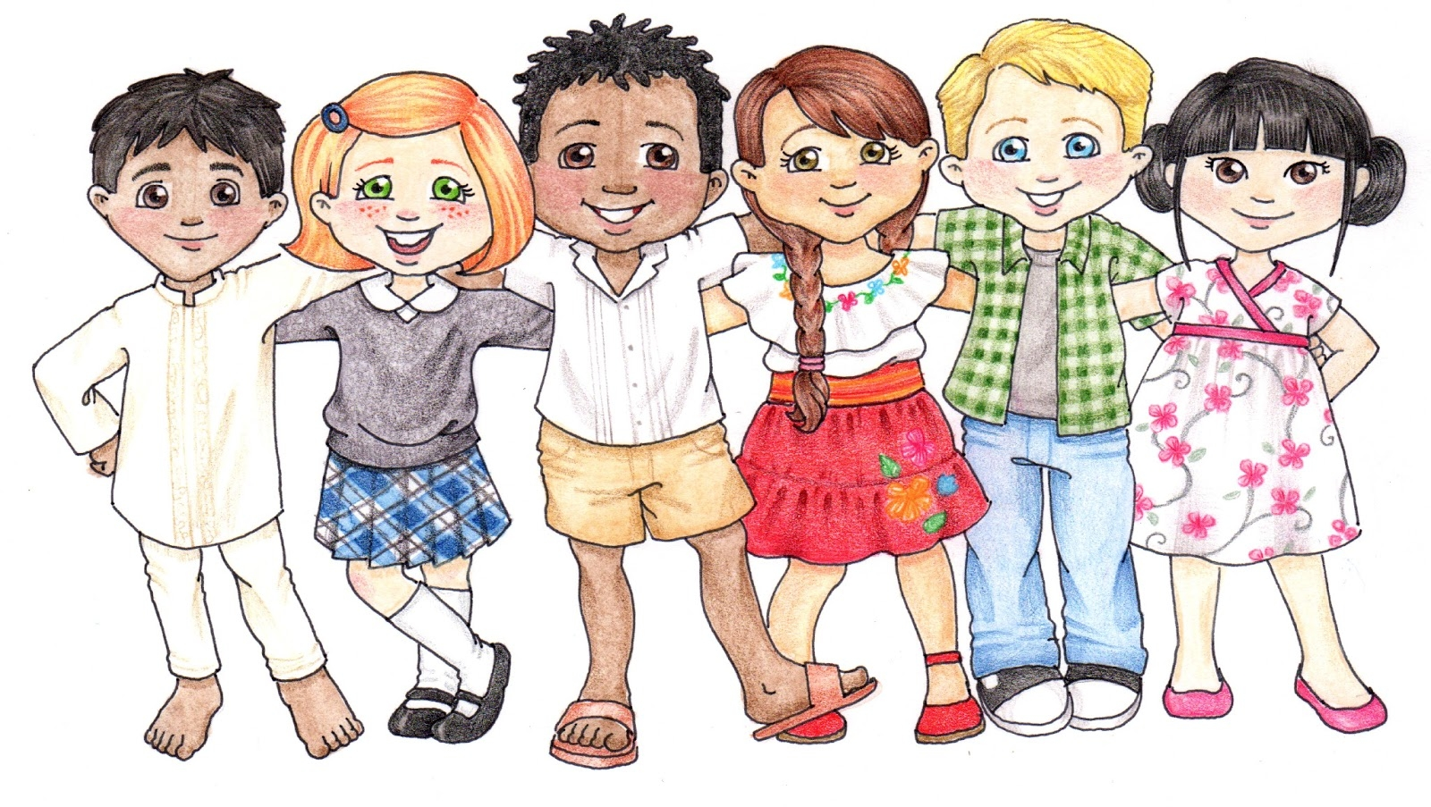 Kids dancing clipart free