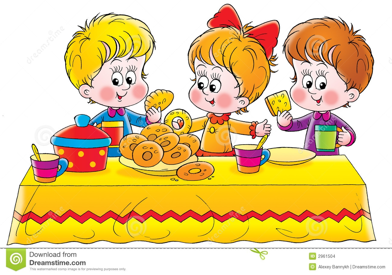 Children Eating Clipart