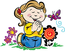 Children Praying Clip Art Free. Persistence in Prayer