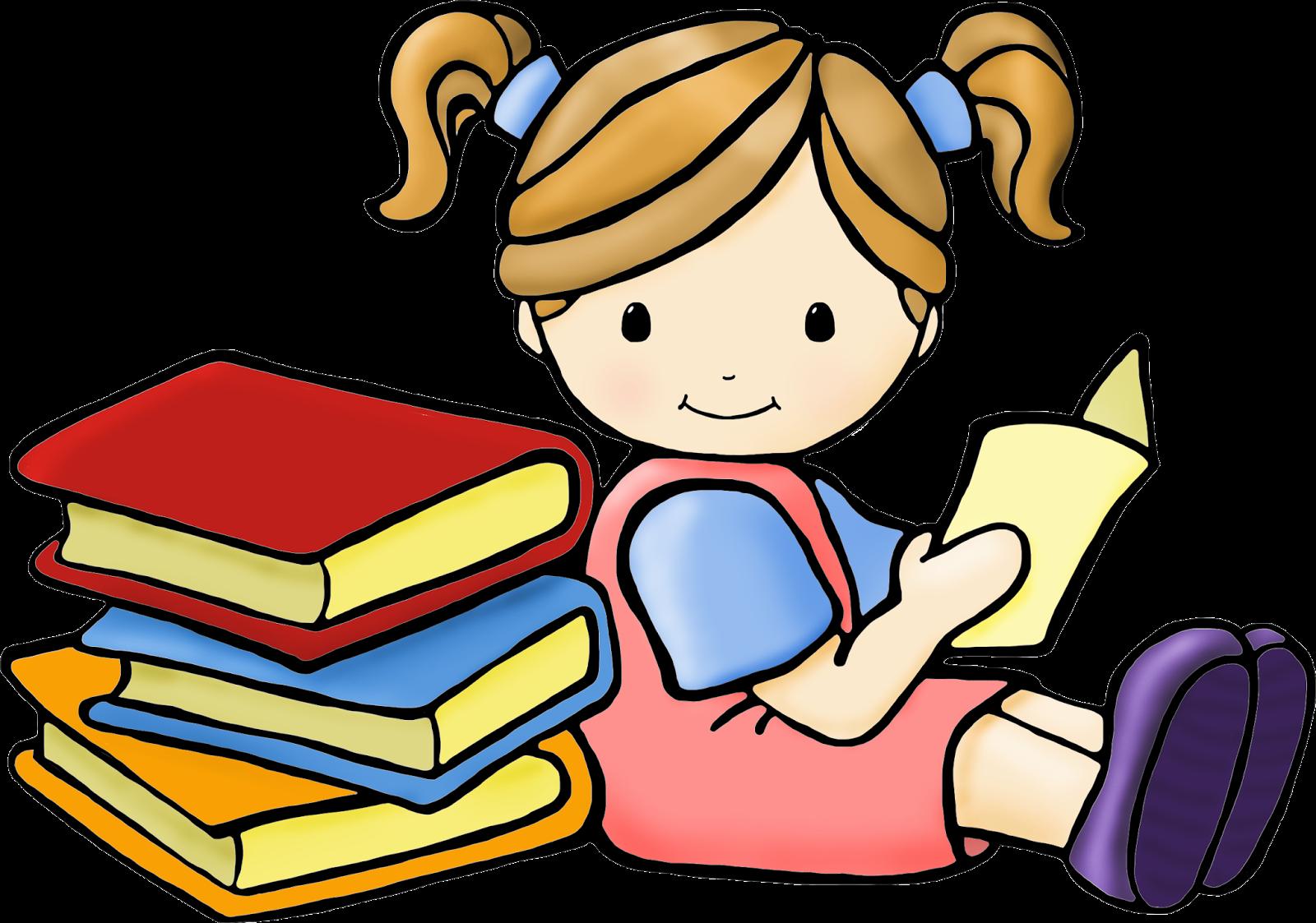 Children ... reading clipart