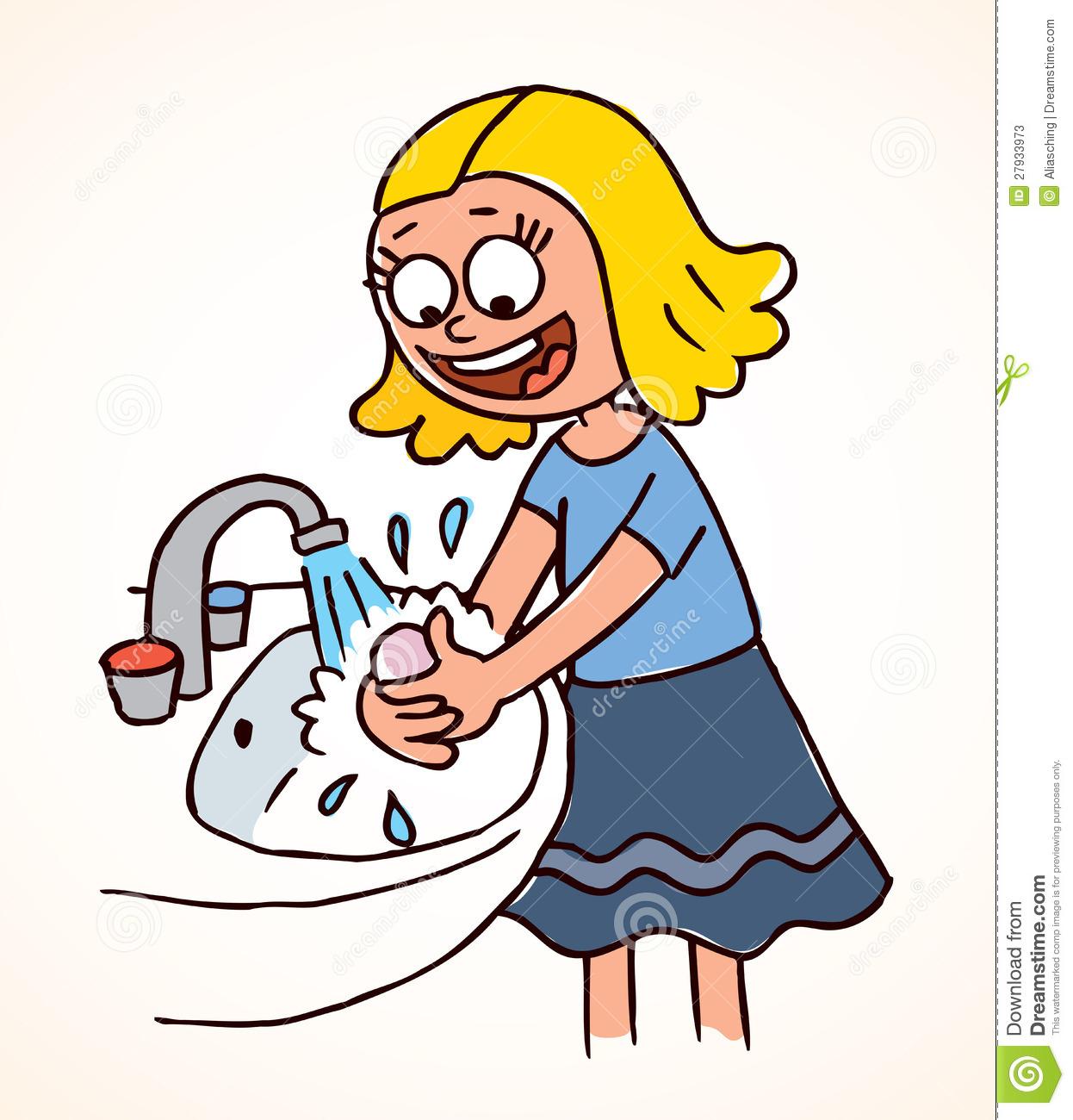 Children Washing Hands Clipart .