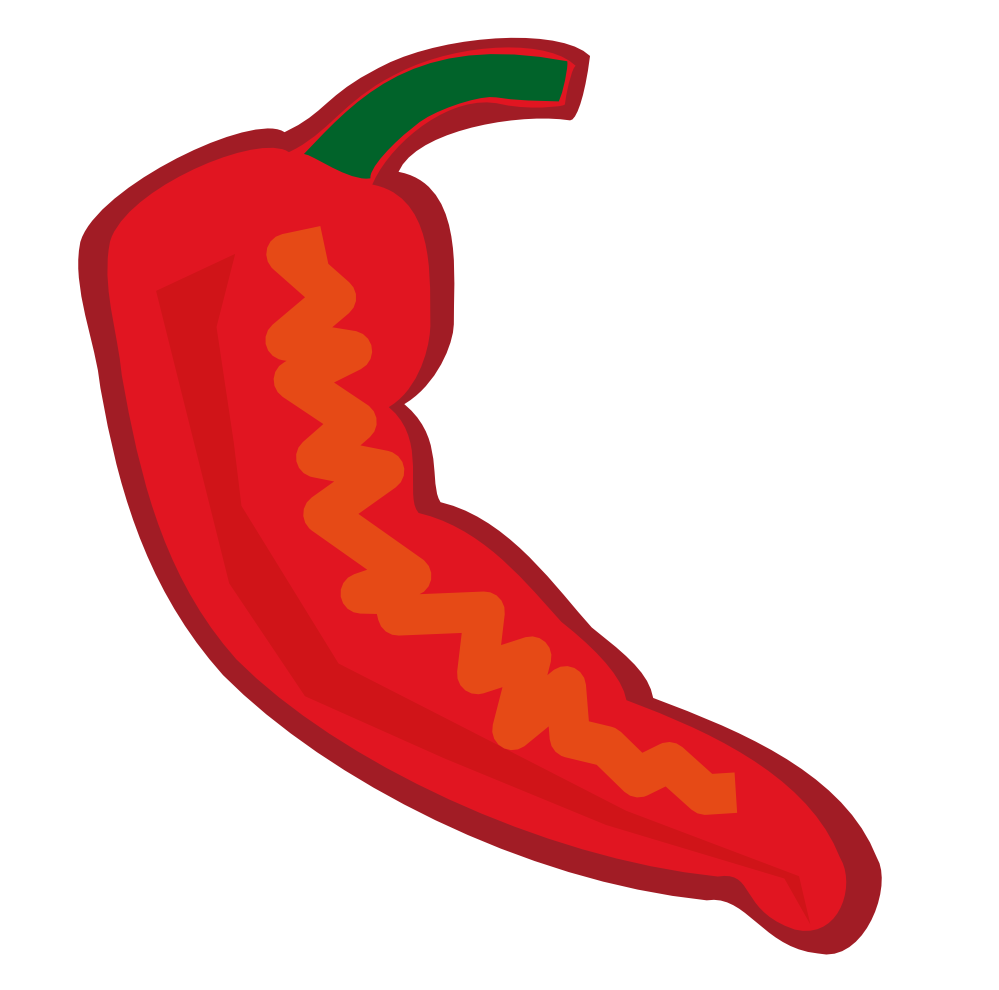 Chili pepper cartoon clipart