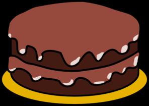 chocolate cake clipart