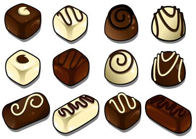 Chocolate black white clipart clipart kid