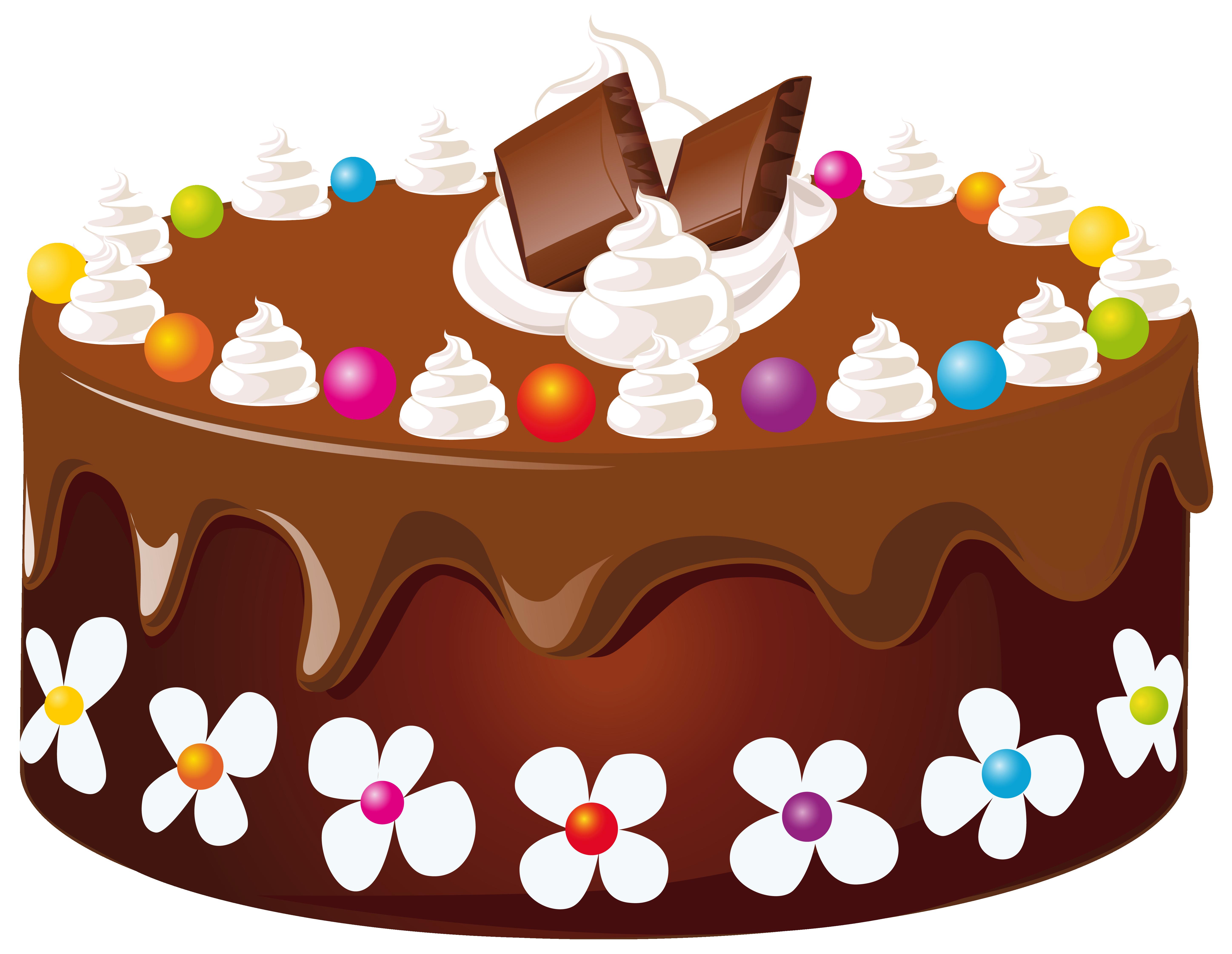 Chocolate cake clipart - .