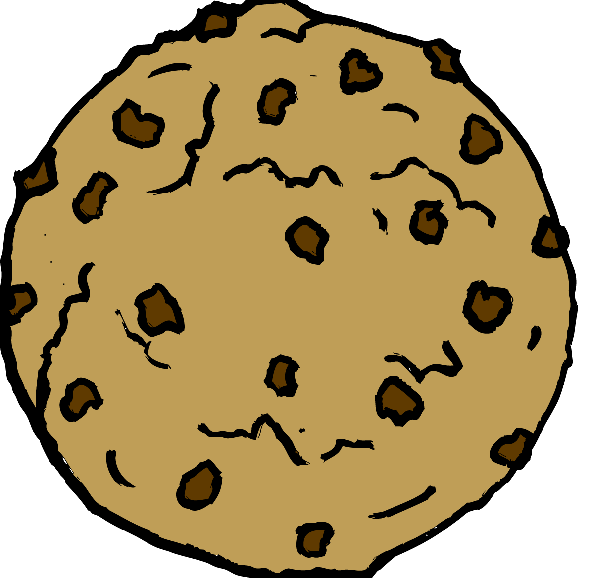 Chocolate chip cookie clipart 2