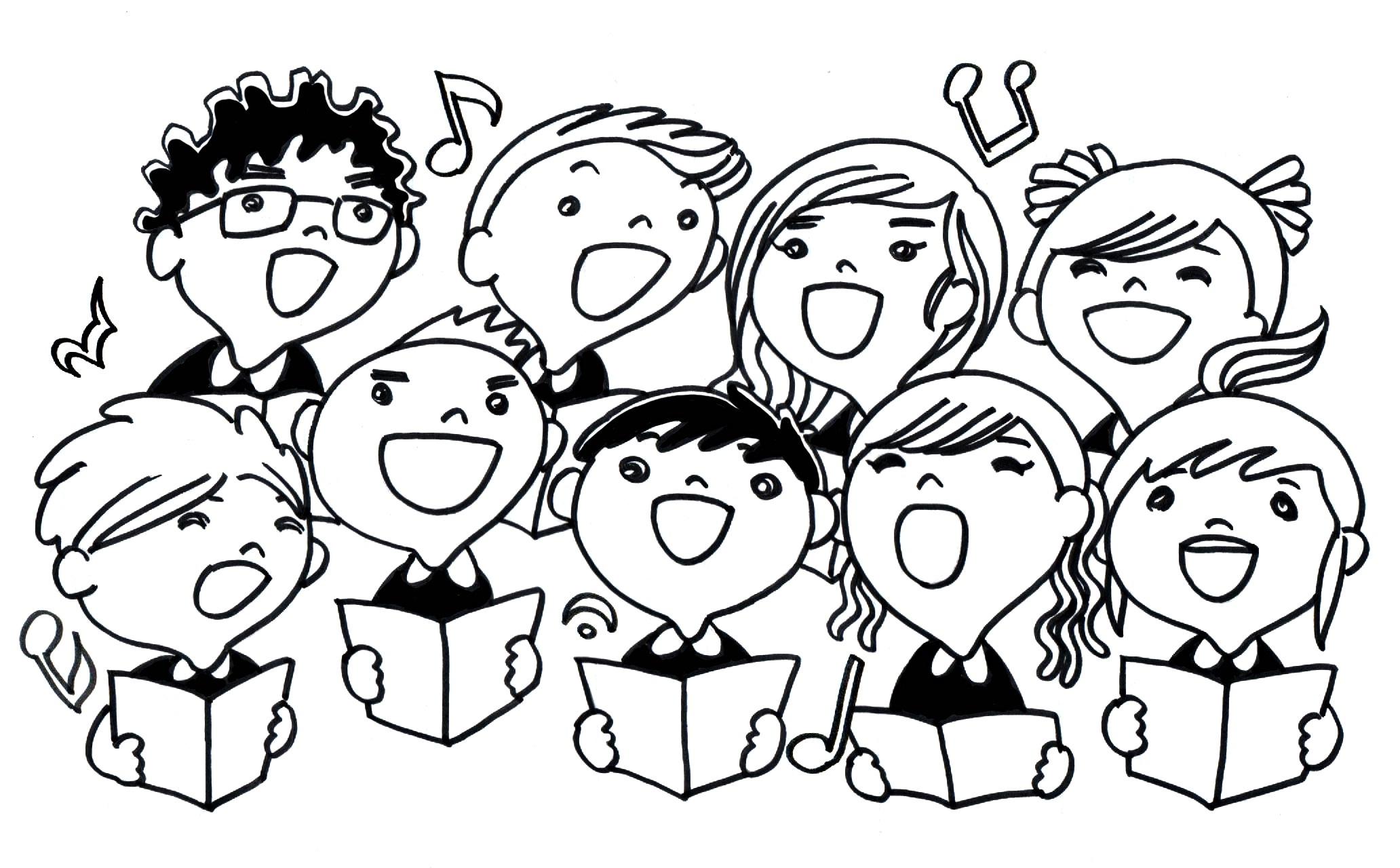 Choir anniversary clipart