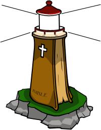 Christian lighthouse clipart