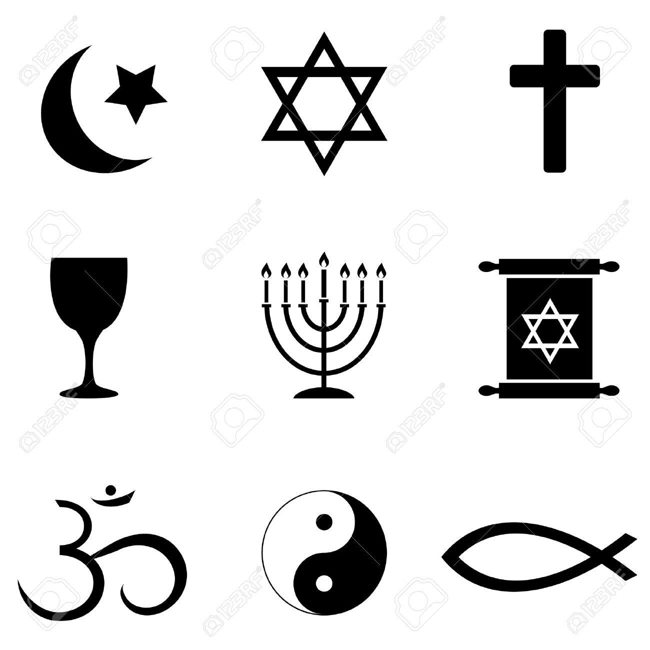 Christian Symbols Clip Art. Religious symbols around the .
