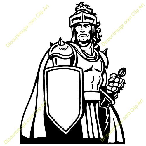 Christian Warrior Clipart #1