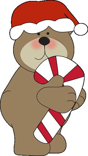 Christmas bear clipart - .