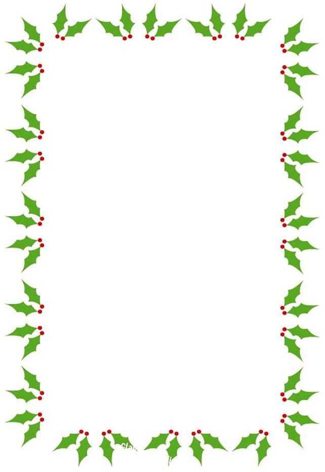 Christmas border 4 sides
