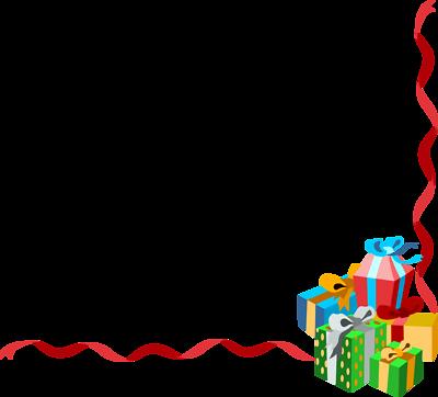Christmas borders free vector .