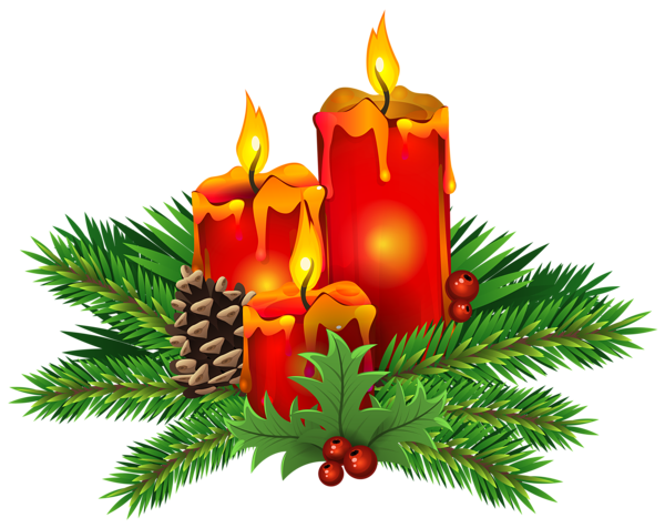 Christmas Candles PNG Clip Art Image