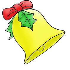 Christmas clip art bell free clipart images