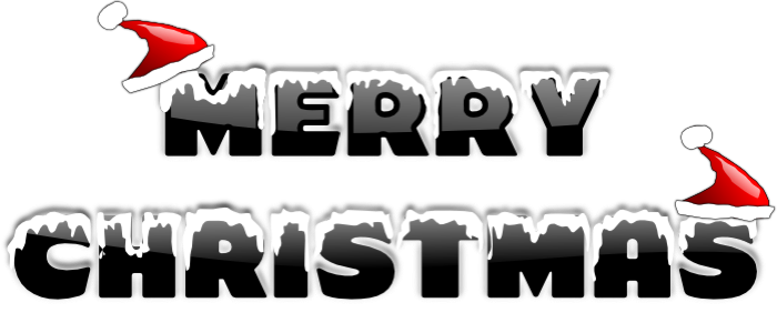 christmas clip art word .