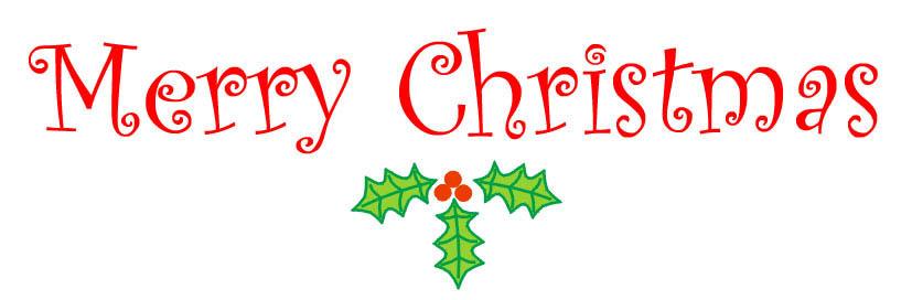 christmas clip art word words .