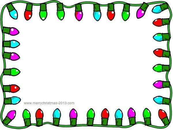 Christmas Clipart Borders Christmas Lights Clip Art Borders Free