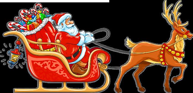 christmas clipart santa sleigh .