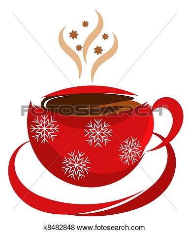 christmas coffee clip art