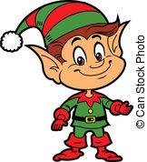 ... Christmas Elf - Happy Smiling Boy Christmas Santau0026#39;s Elf