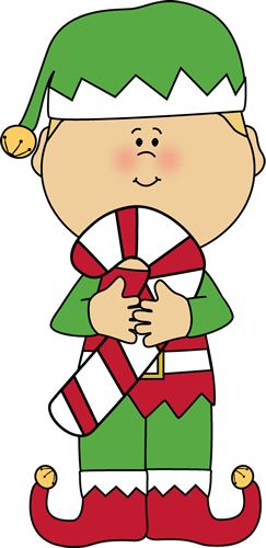 christmas-elf-with-candy-cane.png (243×500)