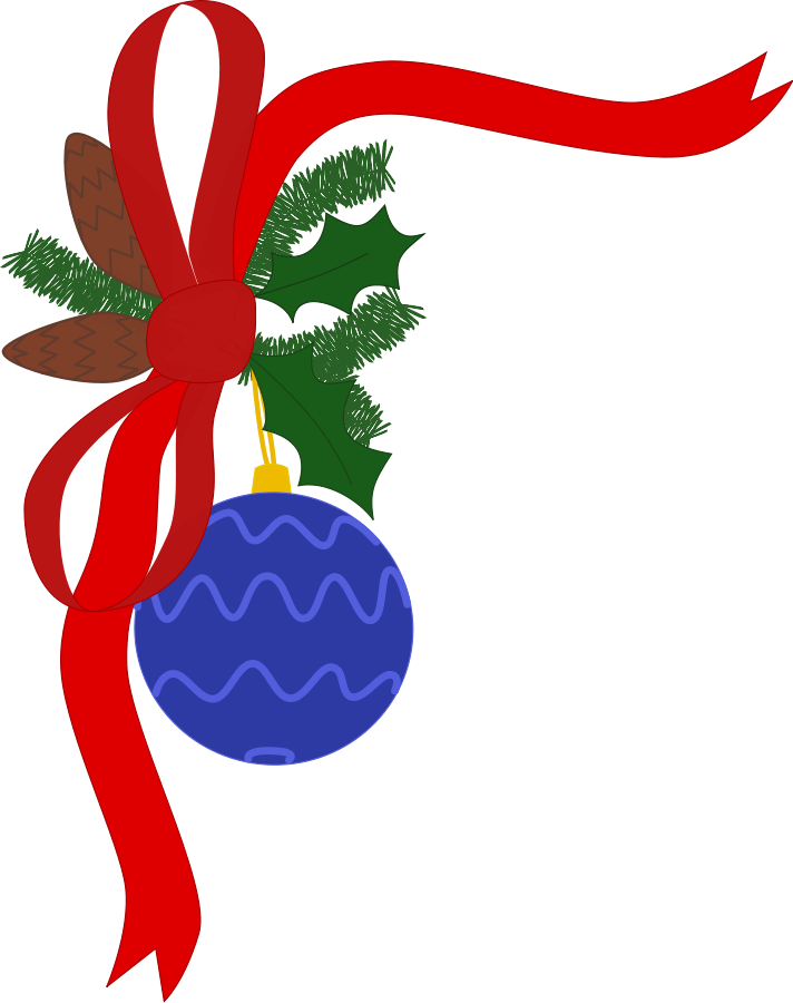 Christmas Garland Border Clip Art Hd - Free Clip Art