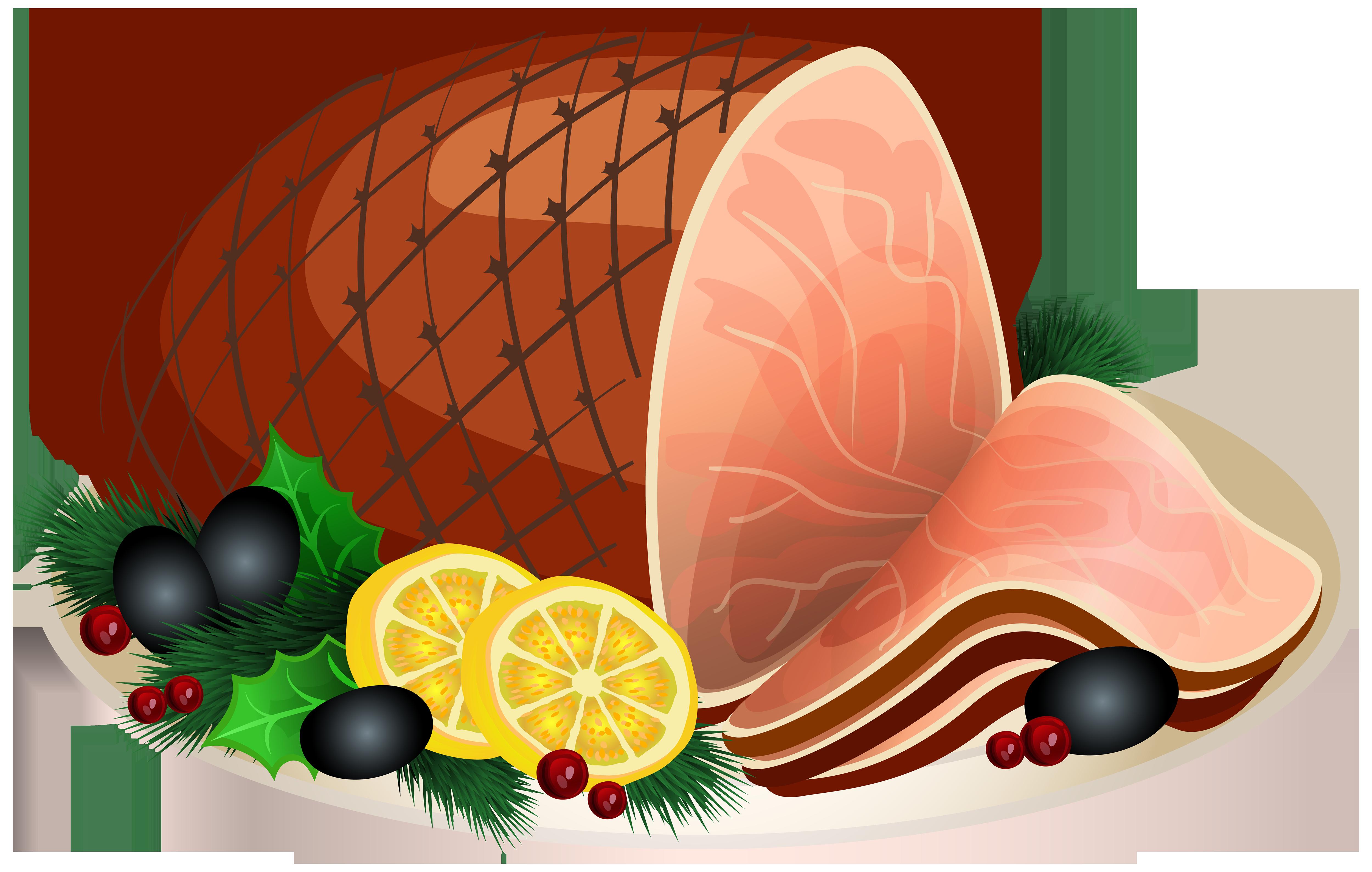 Christmas Ham Transparent PNG Clip Art Image