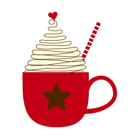 Christmas Hot Cocoa Clipart #1