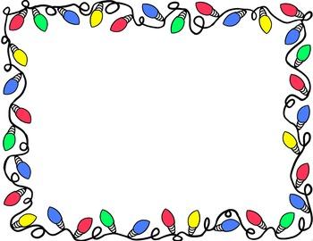 Christmas Light Border Clip .