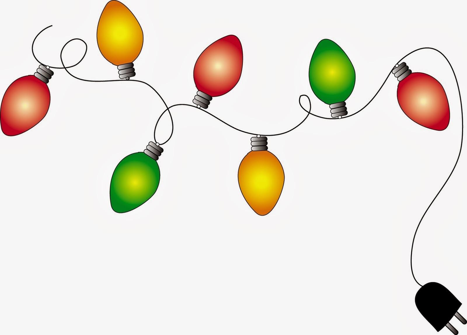 Christmas lights clipart .