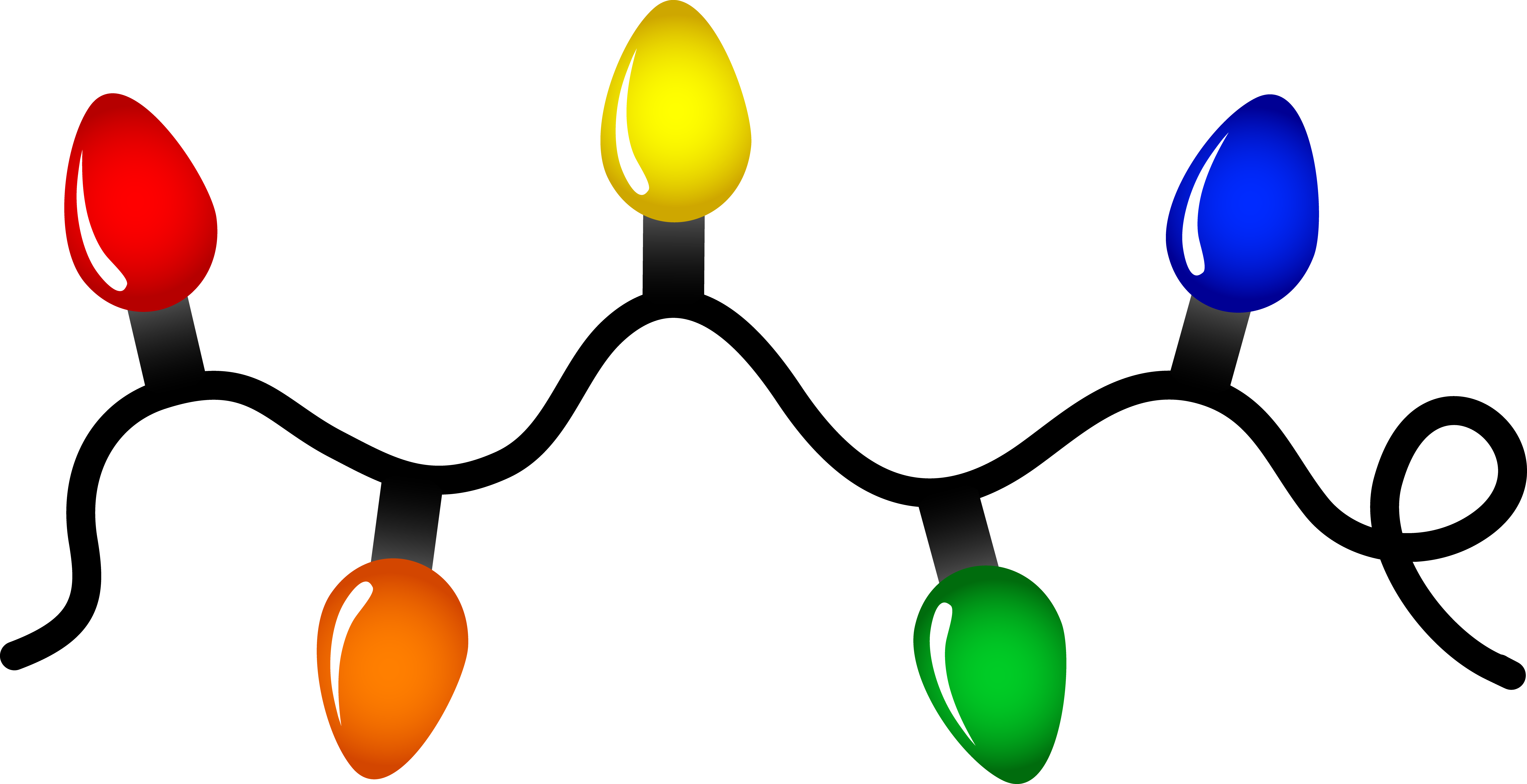 Christmas lights clipart free clipart images